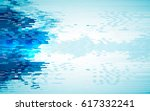 blue abstract background. wavy... | Shutterstock .eps vector #617332241