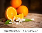 orange and orange blossom on... | Shutterstock . vector #617334767