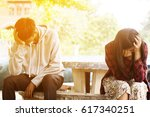 relationship difficulties or... | Shutterstock . vector #617340251