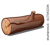 block of wood with the cut twig ... | Shutterstock .eps vector #617342234