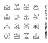 set line icons of seed and... | Shutterstock .eps vector #617345891