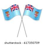 fijian and fijian crossed flags....