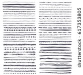 Big set of 60 vector grunge brushes. Abstract hand drawn ink strokes