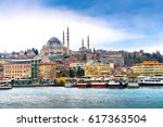 istanbul the capital of turkey. | Shutterstock . vector #617363504