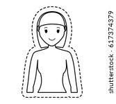 woman cartoon icon   Shutterstock .eps vector #617374379