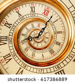 antique old clock abstract... | Shutterstock . vector #617386889