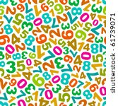 seamless background with numbers | Shutterstock .eps vector #61739071