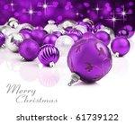 Purple Christmas Ornaments Wit...