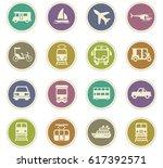 transport vector icons for user ... | Shutterstock .eps vector #617392571