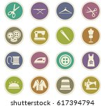 tailoring vector icons for user ... | Shutterstock .eps vector #617394794