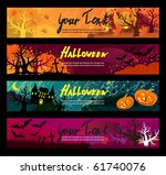 halloween banners set. | Shutterstock .eps vector #61740076