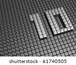 silver shiny ten year... | Shutterstock . vector #61740505