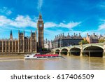 the big ben  the houses of... | Shutterstock . vector #617406509