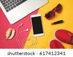 online booking for summer... | Shutterstock . vector #617412341