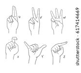 asl sign language alphabet