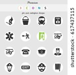 emergency vector icons for user ... | Shutterstock .eps vector #617437115