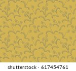 small flowers. seamless retro... | Shutterstock .eps vector #617454761