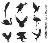 birds. set of vector... | Shutterstock .eps vector #617457359