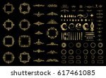 circle and square wicker... | Shutterstock .eps vector #617461085