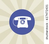 telephone icon. sign design....