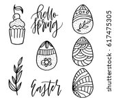 cute hand drawn doodle... | Shutterstock .eps vector #617475305