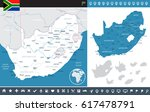 south africa map and flag  ... | Shutterstock .eps vector #617478791