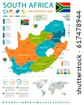 south africa map and flag  ... | Shutterstock .eps vector #617478944