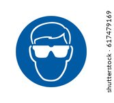 safety sign eye protection | Shutterstock .eps vector #617479169