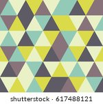 vector triangle seamless pattern | Shutterstock .eps vector #617488121