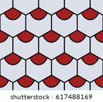 grey hexahedron seamless pattern | Shutterstock .eps vector #617488169