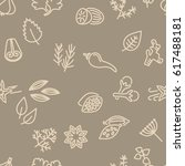 spice seamless pattern in brown ... | Shutterstock .eps vector #617488181