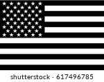 black and white american flag. | Shutterstock .eps vector #617496785