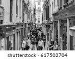 venice  italy   april 13  2013  ... | Shutterstock . vector #617502704