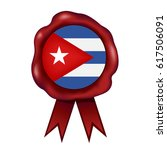 cuban wax seal | Shutterstock .eps vector #617506091