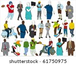 set of high quality silhouettes | Shutterstock . vector #61750975
