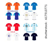 kits collection for 4 football... | Shutterstock .eps vector #617513771