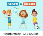 little basketball  tennis and... | Shutterstock .eps vector #617522885