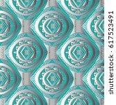 modern geometric seamless... | Shutterstock .eps vector #617523491