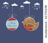 Christmas Robin And Bauble...