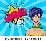 colored comic text speech...   Shutterstock .eps vector #617538755