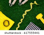 concept preparing to fitness... | Shutterstock . vector #617555441