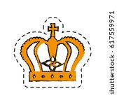 monarch crown isolated icon