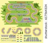 sport race track curve road... | Shutterstock .eps vector #617564324