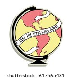 patch world map illustration | Shutterstock .eps vector #617565431
