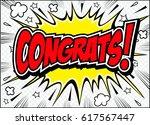 congrats. congratulations card... | Shutterstock .eps vector #617567447