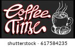coffee time | Shutterstock .eps vector #617584235