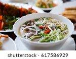 delicious vietnamese tradition... | Shutterstock . vector #617586929