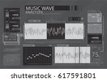 audio wave app in hud style....