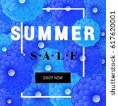 summer sale banner template... | Shutterstock .eps vector #617620001