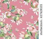 watercolor seamless pattern of... | Shutterstock . vector #617628131